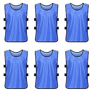 ANSUG Ausbildung Lätzchen/Westen Fußball Fußball Lätzchen Hohe Qualität Team uniform für Erwachsene und Kinder Pack von 6
