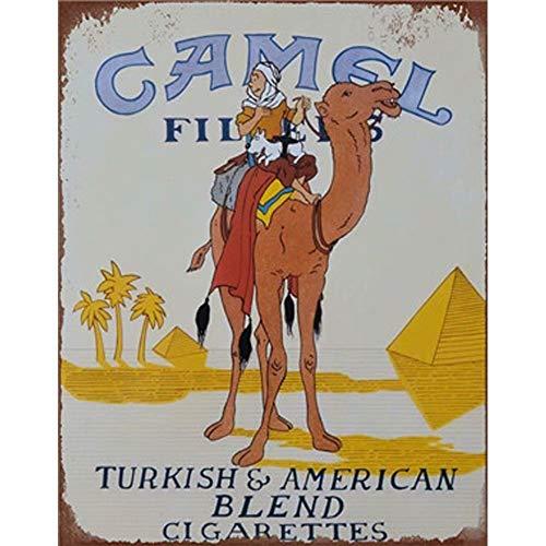 Easy Painter Camel Schilder Hot Rod Poster Wandaufkleber Man Cave House Home Decor Iron Paintings - Animal Decer Metallposter 30 x 20 cm -
