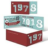 20 x Einladungskarten runder Geburtstag 40 Jahre Geburtstagseinladungen - Retro Geburtsjahr