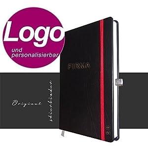 Echt-Leder Notizbuch Edition A5 personalisierbar mit LOGO - Das perfekte Kundengeschenk