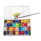 BIANYO 24/36 Farben Wasserfarben Palettenbox leer ABS Anti-Leckage Dichtung luftdicht für Aquarell Gouache Ölgemälde 36 hole