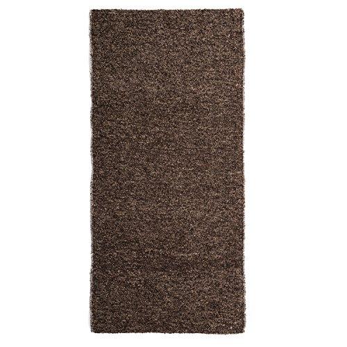Alfombra de pie de cama romántica marrón de algodón / poliéster para dormitorio de 60 x 120 cm Bretaña - Lola Derek