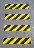 Antideslizante 600 mm x 150 mm pisadas (, 12 unidades) en negro/amarillo atragantamiento