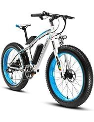 Cyrusher® Extrbici XF660 Vélo électrique adulte pour homme Moteur électrique puissant 48V* 500W Roue libre à 7 vitesses Freins à disques hydrauliques Batterie au lithium sans plomb Pneus gros Cadre en alliage d'aluminium