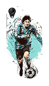 HTC Desire 728 Black Hard Printed Case Cover by HACHI - Messi Football Fans design