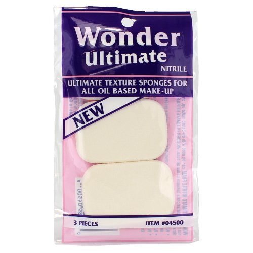 (3 Pack) Wonder Ultimate Texture Sponges For All Oil Based Make-Up - 3 Pieces