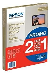 Epson C13S042169 Premium glossy photo paper inkjet 255g/m2 A4 2x15 Blatt Pack BOGOF