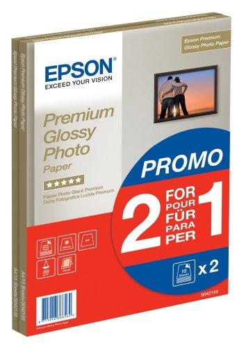 Preisvergleich Produktbild Epson Premium glossy photo paper inkjet 255g/m2 A4 2x15 Blatt Pack