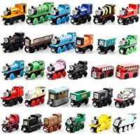 Happytoys 30pcs/set the wooden model of Thomas small train