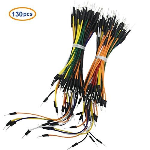 COMeap 130pcs Solderless Flexible Breadboard Jumper Wires Câbles mâle à mâle 1P à 1P pour Arduino Breadboard