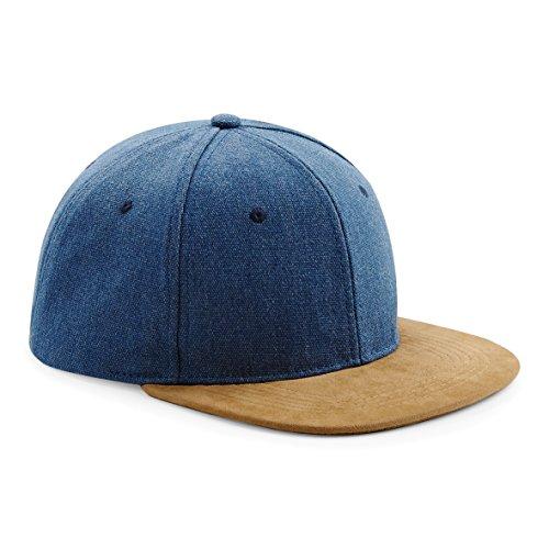 Beechfield Homme Plat Peak rétro Casquette Snapback - Bleu -