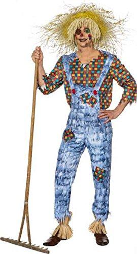 O7754-46-48 Herren Vogelscheuche Zauberer von Os Oz Kostüm (Gute Oz Hexe Zauberer Von)