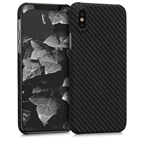 kalibri-Hlle-fr-Apple-iPhone-X-Handy-Schutzhlle-kugelsicheres-Backcover-Aramid-Cover-Schwarz