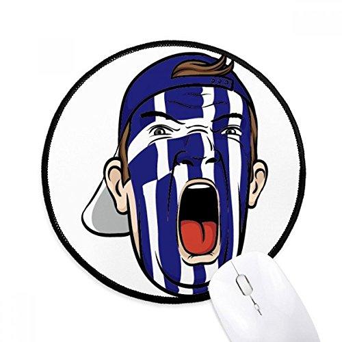 DIYthinker Griechenland-Flagge Gesichtsverfassung Maske Schreien Cap Runde Griffige...