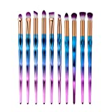 10 Stück Professionelle Bunte Lidschatten Pinsel Set Make Up Pinsel Augen Kosmetik Pinsel Essential Eye Brush Set Ksruee