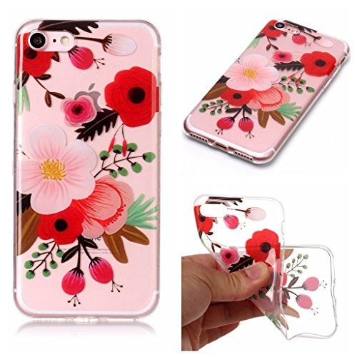 Per iPhone 7 / iPhone 8 Cover , YIGA gufo Cristallo Trasparente Silicone Morbido TPU Case Shell Caso Protezione Custodia per Apple iPhone 7 / iPhone 8 (4,7 pollici) XS76