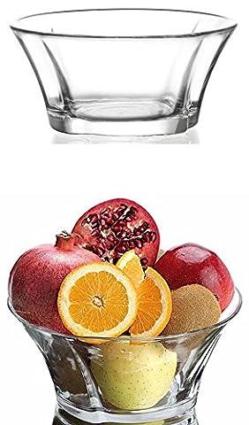 2x Salatschale Salat Obst Schüssel Snackschale Knabberschale Glasschalen Beilage Chips Desert Hotel Restaurant Cafe Bar 2,2 Liter Truva