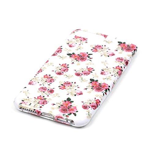iPhone 7 Plus Hülle,iPhone 7 Plus Silikon Case,iPhone 7 Plus Cover - Felfy Ultra Dünne Weicher Slim Gel Flexible Soft TPU Silikon Hülle Schutzhülle Silikon Hülle Blumen Muster Farbmalerei Beschützer H Rosa