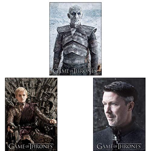 Game of Thrones lizenziertes Kühlschrankspind mit drei Magneten Bündel Bösewicht White Walker Night King Littlefinger Lord Petyr Baelish und Joffrey Baratheon