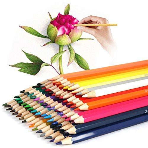 Iyowin Buntstifte aus Holz für Kinder, Erwachsene und Künstler, mit einer Leinen-Schutzhülle, 72 Farben 72 colored pencil