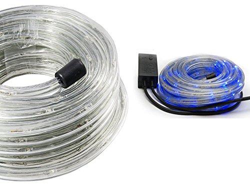 Vetrineinrete® tubo a led luminoso per natale 20 metri luce blu luci natalizie per esterno con controller 360 led decorazioni natalizie luci per balcone