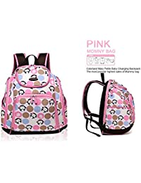 Baby Grow COLORLAND Diaper Wet Bag Backpack/Baby Bags/Mom Travel Maternity Bag (PINK)