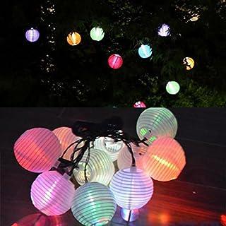 Gaddrt 10pcs Waterproof Solar String Lights Lanterns/ 4 M Outdoor String Lights Lantern Ball/ Garden Chinese Lantern Globe Lights for Party Garden Yard Home Decoration