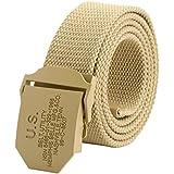 Ayliss® Militär Herren Stoffgürtel Leinwand Canvas Stoff Gürtel Jeansgürtel Belts 125cm