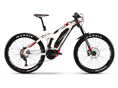 Haibike XDURO AllMtn 6.0 Yamaha Elektro Fahrrad 2018 (M/44cm, Weiß/Anthrazit/Rot)