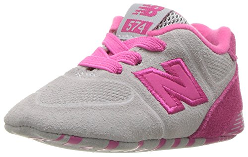 New Balance Unisex-Kinder Sneaker, Pink, 16 EU (0.5 UK Child) (Baby Mädchen Turnschuhe New Balance)