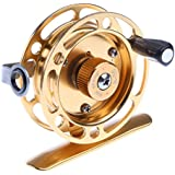 Segolike Full Metal Fly Fishing Reel Mini Raft Ice Fishing Wheel Fly Reel Sea Fishing Rod Reels 3# 100m