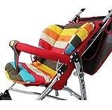 Universal Kinderwagen Sitzauflage, Buggy Auflage Regenbogen
