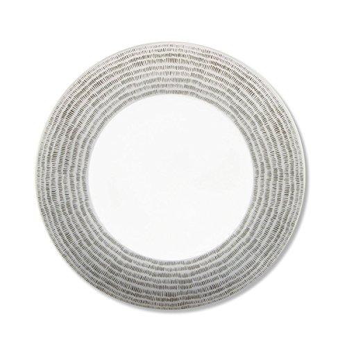 Bruno Evrard Assiette Dessert en Porcelaine 21cm - Lot de 6 - Daya Gris