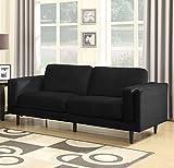 Sedex Neapel Sofa 3-Sitzer Couch Polstergarnitur Kunstleder - Schwarz