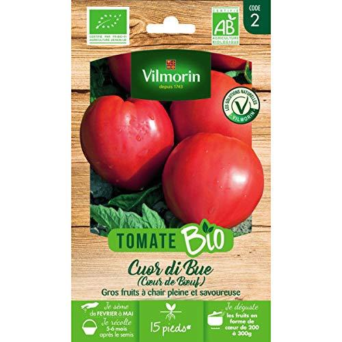 Vilmorin Sachet graines Tomate CUOR DI BUE (Coeur de Boeuf) Bio