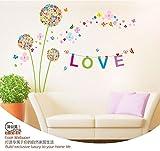 Wandaufkleber Farbe Pflanzen Wandaufkleber Wohnzimmer TV Hintergrund dekorative Wandaufkleber 165 × 120 cm