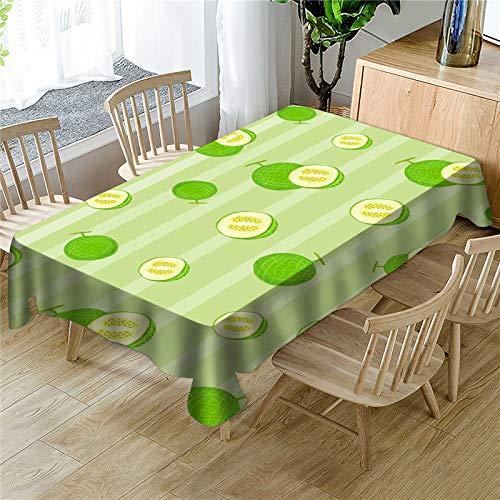 QWEASDZX Tischdecke Kleine frische Früchte Digitaldruck Ölbeständiges Antifouling Staubbeständiges Mehrzwecktischtuch Abwaschbare Antifleckentischdecke Geeignet für Innen- und Außenbereich 140x180 cm