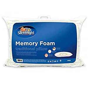 Silentnight Memory Foam Pillow, White: Amazon.co.uk: Kitchen & Home