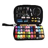 Fangfeen 24 Carretes de Color viajeros portátiles Accesorios de Costura básica Pase Needwork Costura Sew Mini Kit de Herramientas de reparación