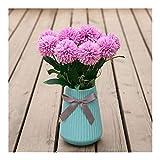 SOQHD Künstliche Hydrangea Blumen, Pompon Silk Chrysanthemum-Ball-Blume for Haus-Garten-Party Büro-Dekoration (Color : Purple)