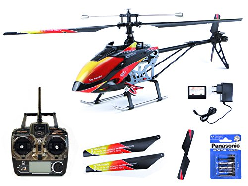 Preisvergleich Produktbild efaso Helikopter WLToys V913 - 2,4 GHz, 4-Kanal Single Blade Hubschrauber mit LCD Display an der Fernsteuerung, Alu-Chassis und hoher Windresistenz inkl. Batterien für Fernsteuerung