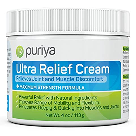 Powerful Joint and Muscle Pain Relief Cream with Patented Ingredients and Proven Results. Advanced Natural Formula for Knee, Back, Foot, Neck, Shoulder, Hip, Wrist, Tendon and Chronic Pain- 4