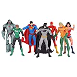 Juego De Juguetes De Figuras De Acción De Marvel: Spider-Man De 6 Pulgadas, Green Lantern, Batman, Cyborg, The Flash, Scarlet Witch, Figura De Acción De Aquaman (la Articulación Puede Estar Activa): U