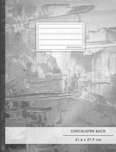 """Checklisten-Buch: DIN A4 • 70+ Seiten, Soft Cover, Register, \""""Ölfarbe\"""" • #GoodMemos • 18 Checkboxen + Platz für Notizen/Seite (inkl. Register mit Datum uvm.)"""