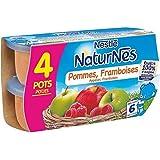 Nestlé naturnes bol fruit compote de pommes framboises 4 x 130g dès 6 mois - ( Prix Unitaire ) - Envoi Rapide...