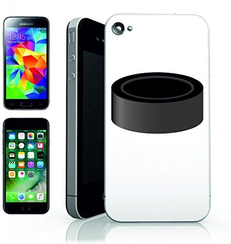 Smartphone Case PUCK di hockey su ghiaccio di Sport per Apple Iphone 4/4S, 5/5S, 5C, 6/6S, 7& Samsung Galaxy S4, S5, S6, S6Edge, S7, S7Edge Huawei HTC–Divertimento Motiv di culto Idea Regalo P