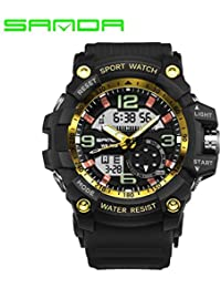 sportuhr Sanda Reloj Deportivo Reloj electronico LED Impermeable Reloj de Hombre