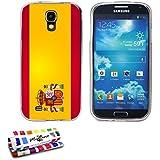 Muzzano - Carcasa para Samsung Galaxy S4 Advance (ultrafina), diseño de bandera de España transparente con la bandera española