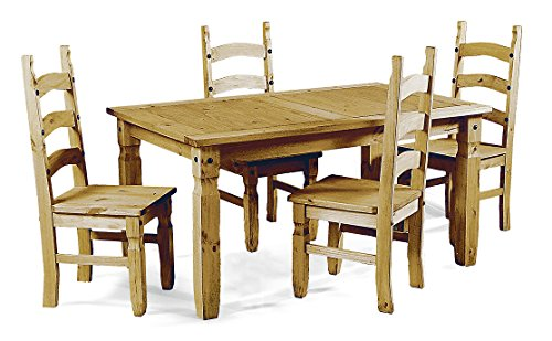 Mercers Furniture Corona 4ft Dining Table and 4 Chairs - Pine