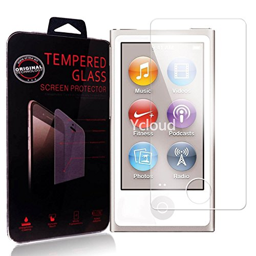 Ycloud Panzerglas Folie Schutzfolie Displayschutzfolie für Apple iPod Nano 7th Gen / 7th Generation screen protector mit Härtegrad 9H, 0,26mm Ultra-Dünn, Abgerundete Kanten Gen Screen Protector